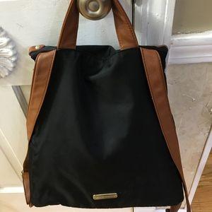 Steve Madden Black Nylon Backpack